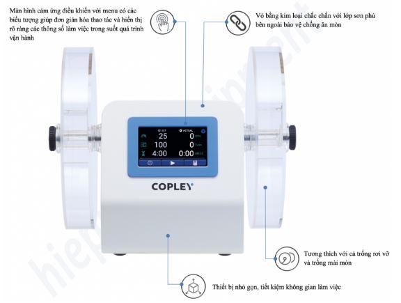 Đặc điểm máy kiểm tra độ mài mòn viên thuốc Copley Scientific FRV series