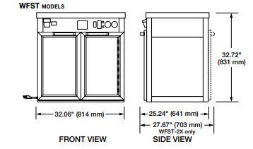 Hình ảnh Tủ giữ ấm Pizza, Bánh Mì WFST-1X