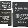MicroSD 2GB w/2 Adapter