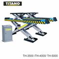 Cầu nâng ô tô kiểu xếp 4 tấn, bàn rộng, 2 tầng nâng TH4000
