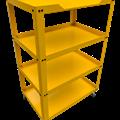 Xe để dụng cụ 4 ngăn OKASU N0R4 (Vàng)