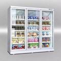 Tủ đông 3 cánh kính siêu thị Kolner KNFR-140/210/280/340-T