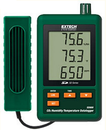 Máy đo khí CO2 nhiệt độ và độ ẩm trong nhà Extech SD800 ...
