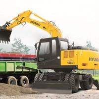 Máy xúc đào bánh lốp R140W-7