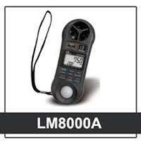 Máy đo tốc độ gió, độ ẩm, ánh sáng Lutron LM8000A