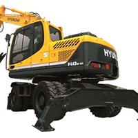 Máy xúc đào bánh lốp Hyundai R140W-9S