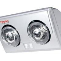 Đèn sưởi phòng tắm Braun 2 bóng BU02