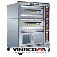 Lò nướng bánh chạy Gas cao cấp với ngăn ủ lạnh NFR-40HF