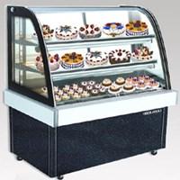 Tủ trưng bày bánh lạnh BERJAYA (MALAYSIA) kính cong màu đen