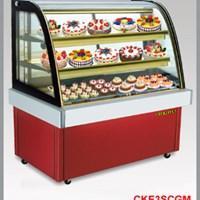 Tủ trưng bày bánh lạnh BERJAYA (MALAYSIA)  kính cong mầu đỏ CKE