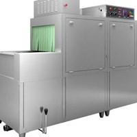 Máy rửa bát băng chuyền kết hợp giá kệ DCS