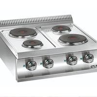 Bếp âu 4 họng dùng điện để bàn mặt tròn E477
