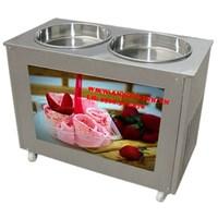 Máy làm kem xào 2 chảo tròn HX-FICM03