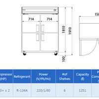 Tủ lạnh thương mại 2 cửa B074-2MOOS-E