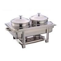 Nồi Đựng Soup Buffet Chữ Nhật Giá Rẻ 2 Ngăn NF2111-S