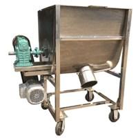 Máy trộn nguyên liệu nằm ngang 50kg/mẻ inox MTI-03