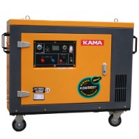 Máy phát điện chạy dầu cách âm KAMA KDE 8800T