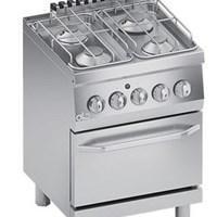 Bếp âu 4 họng có lò nướng LIne 600 ATA K6GCU10FF