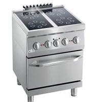 Bếp điện từ 4 họng có lò nướng Line 600 ATA K6EVC10FF