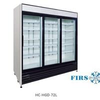Tủ mát 3 cánh kính cửa trượt FIRSCOOL HC-HGD-72L