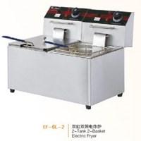 Bếp chiên nhúng điện 2 bồn 2 rổ Wailaan EF-6L-2