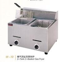 Bếp chiên nhúng chạy gas 2 bồn 2 rổ Wailaan EF-72