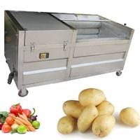 Máy bóc vỏ khoai lang, khoai môn, khoai tây tự động