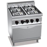 Bếp âu 4 họng, 1 lò nướng bằng gas BERTOS G7F4-FG1