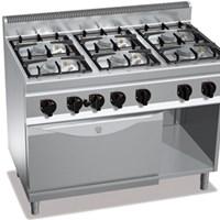 Bếp âu 6 họng, 1 lò nướng bằng gas BERTOS G7F6+FG1