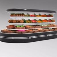 Tủ trưng bày và bảo quản tủ siêu thị Kolner KNVMR-R / O / S
