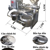 Máy ép dầu công nghiệp TQ03A 60-130 kg/giờ